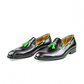 Serfan Loafer Men Calf Leather Black Green