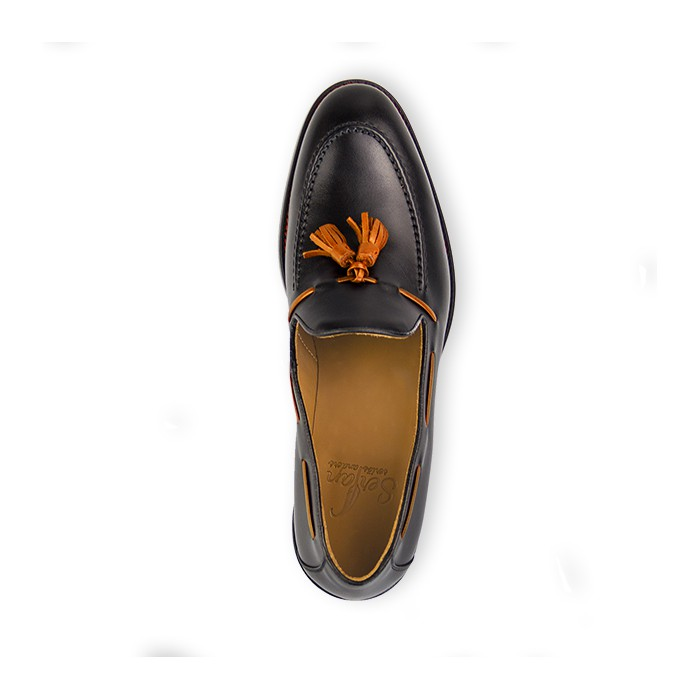 a3058923562a66 Serfan LoaferMen Calf Leather Black Orange