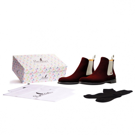 serfan chelsea boot women suede beige brown. Black Bedroom Furniture Sets. Home Design Ideas