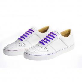 Serfan Sneaker Men smooth leather white purple