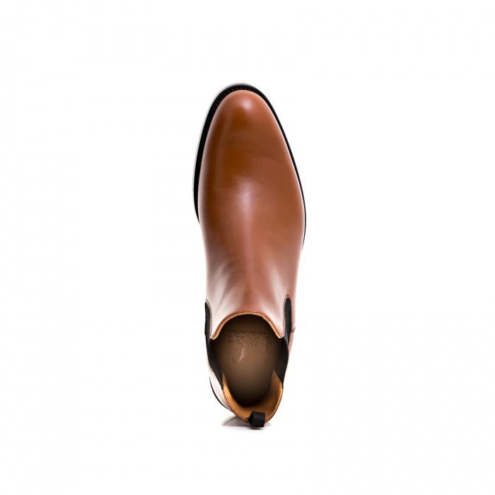 5739bad06b6f12 Serfan Chelsea Boot Herren Spezial Cognac Schwarz