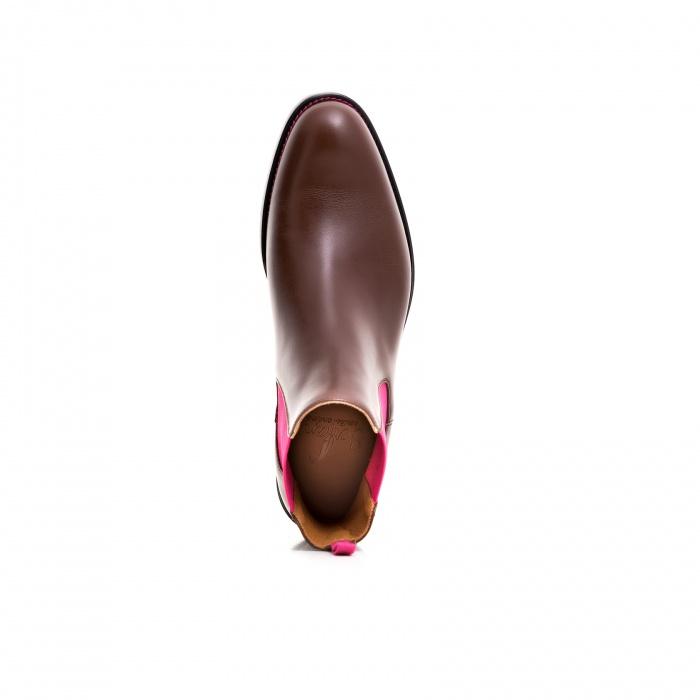serfan chelsea boot women calf leather brown pink. Black Bedroom Furniture Sets. Home Design Ideas
