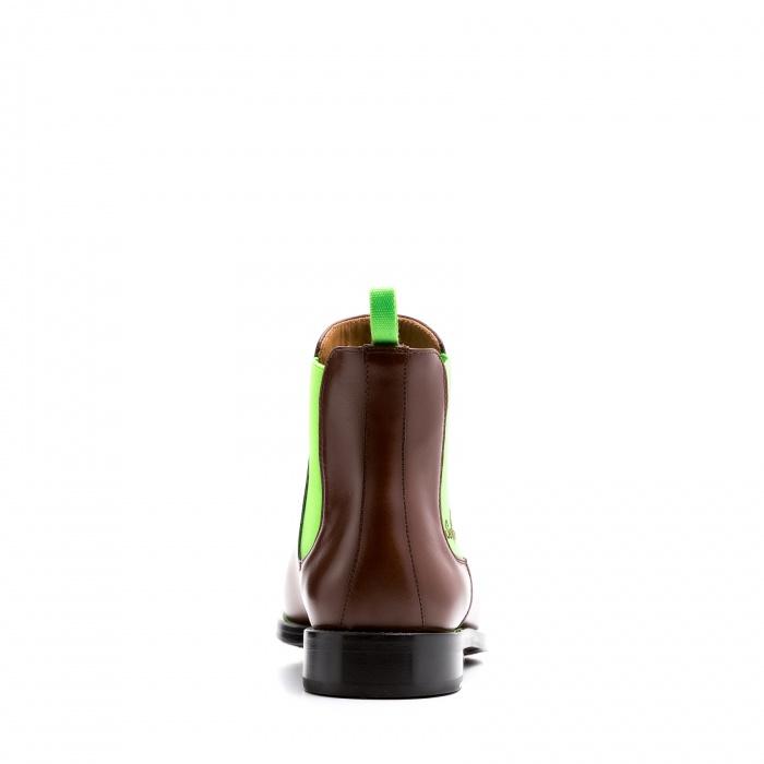 94dd98b1967270 Serfan Chelsea Boot Men Calf Leather Brown Green
