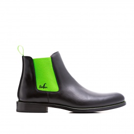 Serfan Chelsea Boot Men Calf Leather Black Green