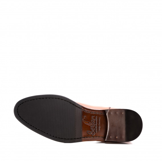 3ccd35ed5316a3 Serfan Chelsea Boot Men Calf Leather Cognac Green
