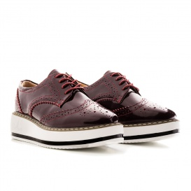 Serfan Plateau Oxford Bordo Rot