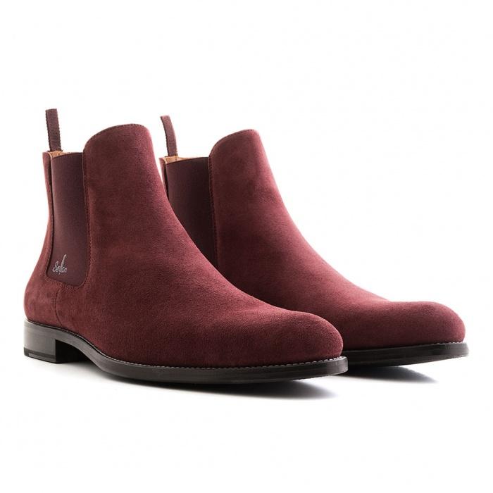 separation shoes 50484 ba72f Serfan Chelsea Boot Herren Wildleder Marsala Bordo