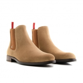 Serfan Chelsea Boot Women Suede Beige Brown