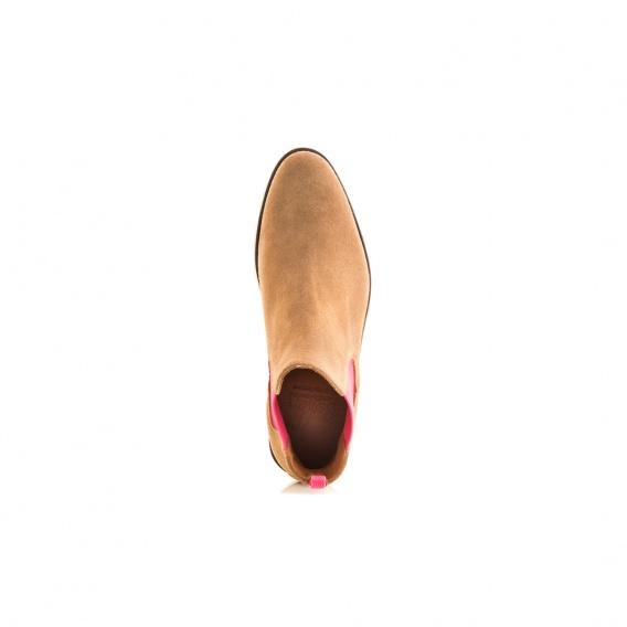 108477ce9591c5 Serfan Chelsea Boot Damen Wildleder Beige Pink