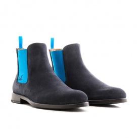 Serfan Chelsea Boot Men Suede Blue Blue