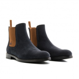 Serfan Chelsea Boot Men Suede Blue Brown