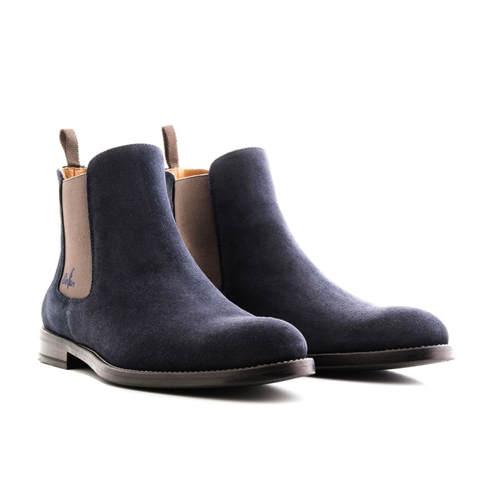 fdd7d3d20081c Serfan Chelsea Boot Women Suede Blue Grey
