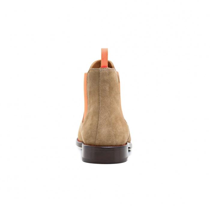1151b1e2f46e50 Serfan Chelsea Boot Damen Wildleder Beige Orange