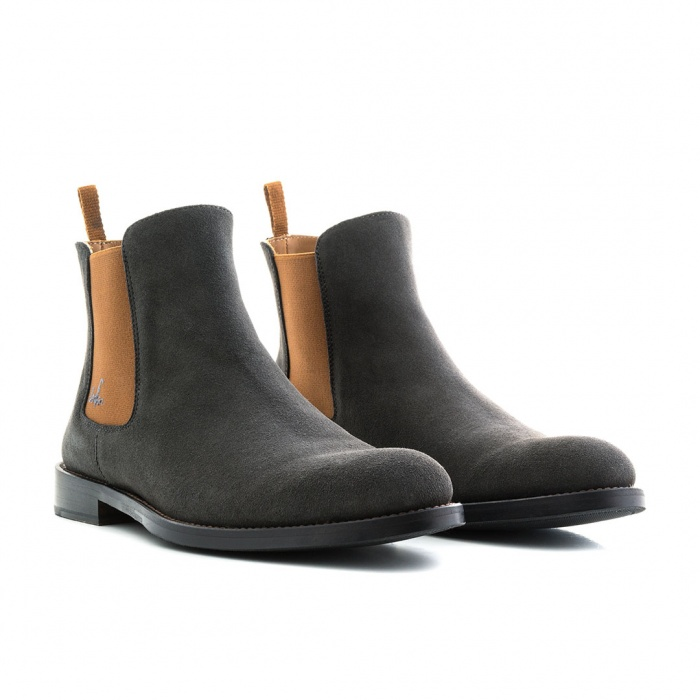 c36042b4a9b44 Serfan Chelsea Boot Women Suede Grey Brown