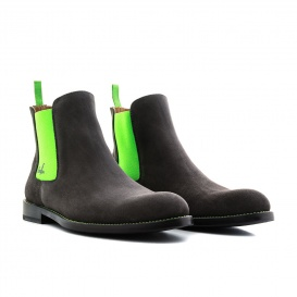 Serfan Chelsea Boot Women Suede Grey Green