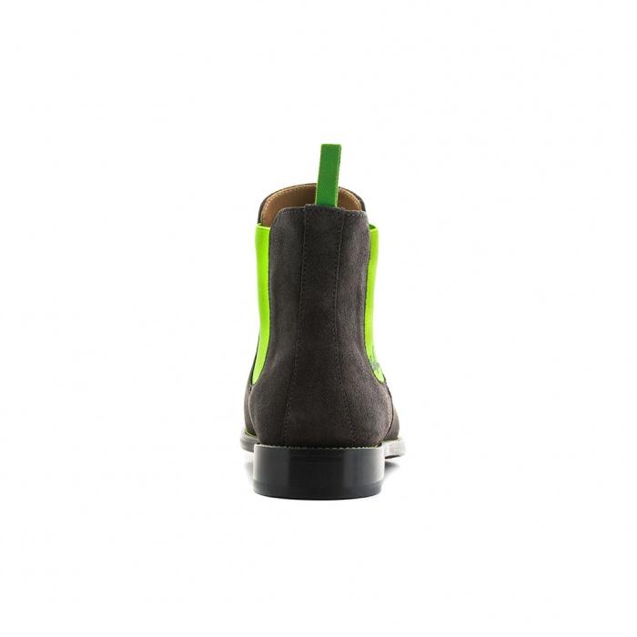 185cff33b4bfa4 Serfan Chelsea Boot Men Suede Grey Green