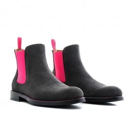 Serfan Chelsea Boot Damen Wildleder Grau Pink