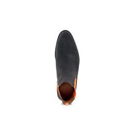 Serfan Chelsea Boot Women Suede Grey Orange