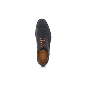 Serfan Oxford Herren Wildleder Grau Orange