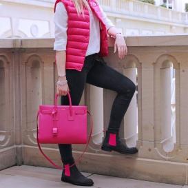 Serfan Chelsea Boot Damen Wildleder Blau Pink