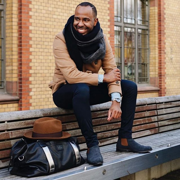 serfan chelsea boot men suede blue brown. Black Bedroom Furniture Sets. Home Design Ideas