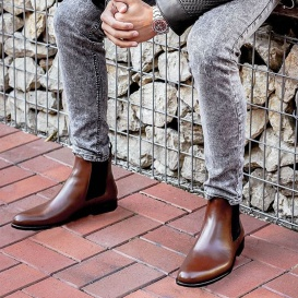 Serfan Chelsea Boot Men Special Brown Black