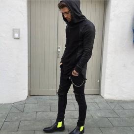 Serfan Chelsea Boot Herren Glattleder Schwarz Gelb