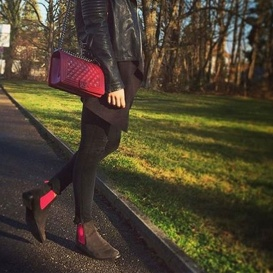 Serfan Chelsea Boot Women Suede Grey Pink