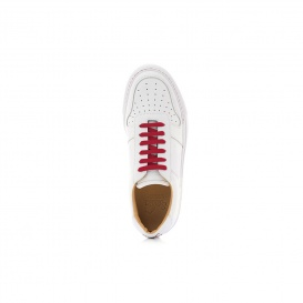 Serfan Sneaker Men Smooth Leather White Red