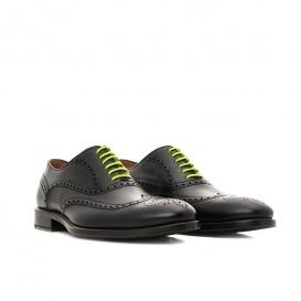 Serfan Oxford Men Calf Leather Black Yellow
