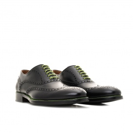 Serfan Oxford Men Calf Leather Black Green