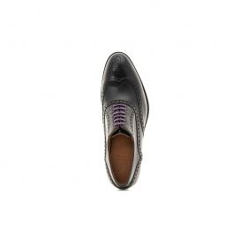 Serfan Oxford Men Calf Leather Black Purple