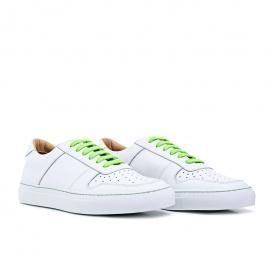 Serfan Sneaker Damen Glattleder Weiß Grün