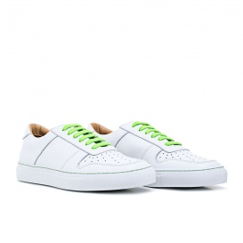 Serfan Sneaker Women Smooth Leather White Green
