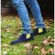 Serfan Chelsea Boot Herren Wildleder Blau Gelb