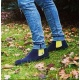 Serfan Chelsea Boot Men Suede Blue Yellow
