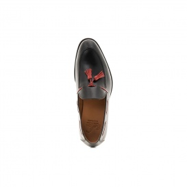 Serfan Loafer Men Calf Leather Black Red