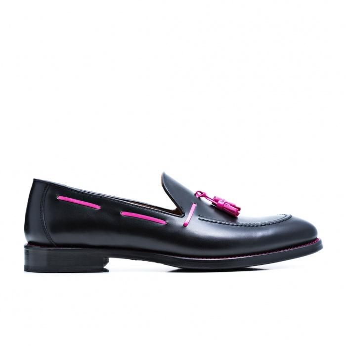 serfan loafer damen glattleder schwarz pink. Black Bedroom Furniture Sets. Home Design Ideas