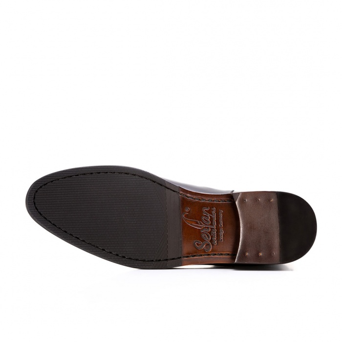 4e836e795467dd Serfan young fashion Chelsea Boot men calf leahter black red
