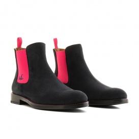 Serfan Chelsea Boot Women Suede Blue Pink