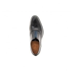 Serfan Oxford Women Calf Leather Black Blue