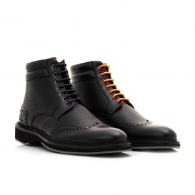 Serfan Ankle Boot Men Calf Leather Black