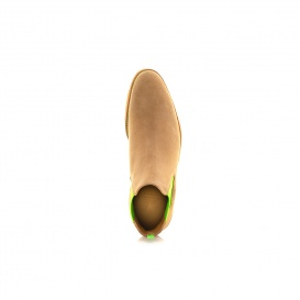 Serfan Chelsea Boot Men Suede Beige Green Crepe Sole