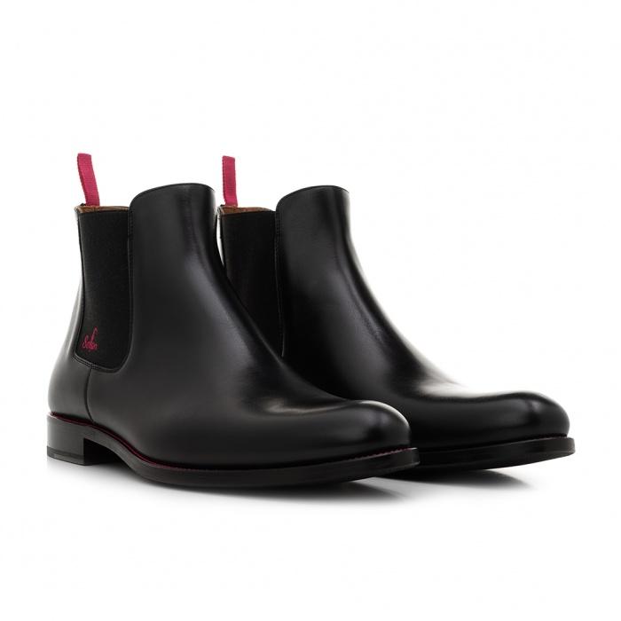a2d1721b7d1ce4 Serfan young fashion Chelsea Boot Damen Glattleder Schwarz Pink