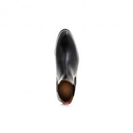 Serfan young fashion Chelsea Boot womem calf leahter black pink