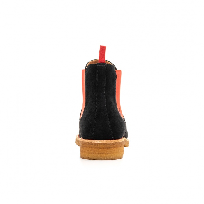 05dc21fbd8651e Serfan Chelsea Boot Men Suede Black Red ...