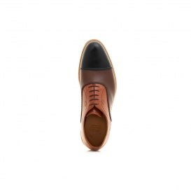 Serfan Oxford Men Calf Leather Cognac Brown Black