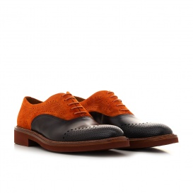 Serfan Oxford Men Oxford Orange Black