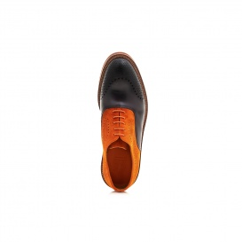 Serfan Oxford Herren Wildleder Orange Schwarz