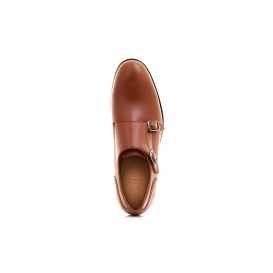 Serfan Monks Men Brown Calf Leather Brown Blue